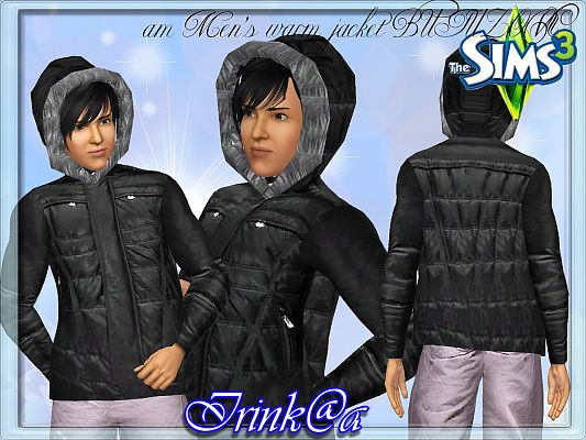 Sims 3 clothing, outfit, male, jacket