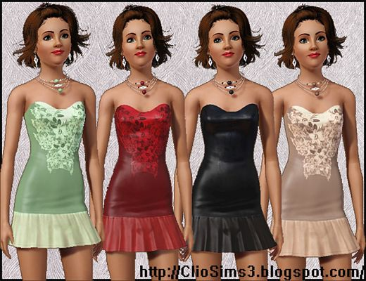 Sims 3 jewelry, accessories, earrings, necklace, dress, fashion, clothing