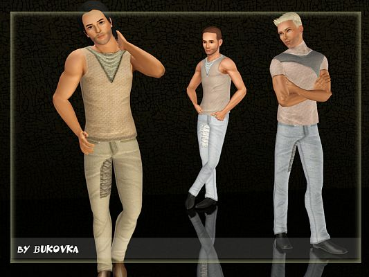 Sims 3 shirt, pants, clothing, male