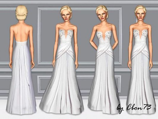 Sims 3 dress, cloth, clothing, outfit, fashion, gown