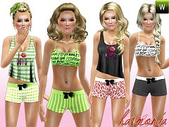 Sims 3 clothing, fashion, outfit, female, lingerie