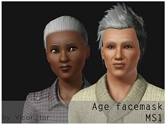 Sims 3 mask, age, face, makeup
