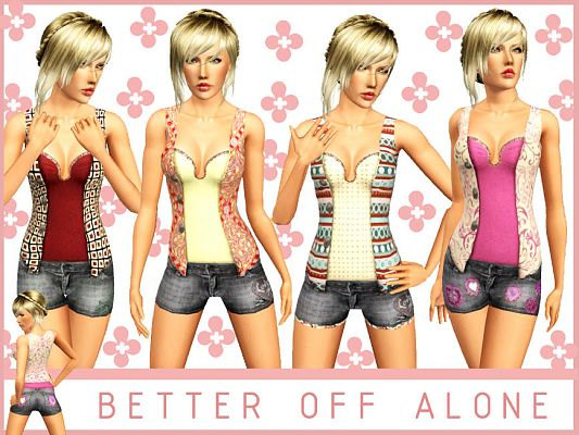 Sims 3 outfit, fashion, clothing, female, shorts