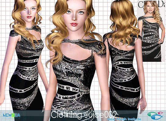 Sims 3 dress, gown, fashion, formal, female