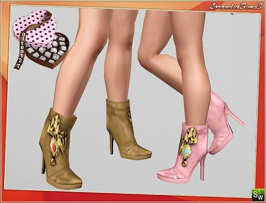 Sims 3 shoes, ankle, boots, fashion