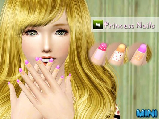 Sims 3 nail, accessories