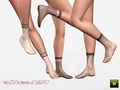 Sims 3 socks, accessories, female