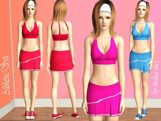 Sims 3 sport, set, athletic