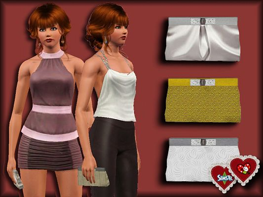 Sims 3 bag, accessory, clutch