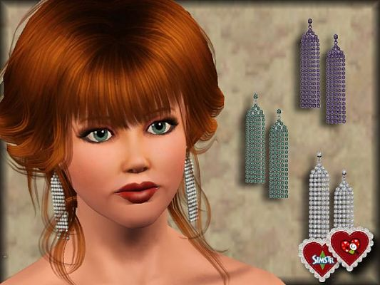Sims 3 earrings, jewelry, accessories, valentines