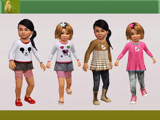 Sims 3 outfit, fashion, clothing, kids