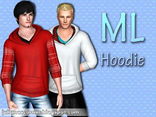 Sims 3 hoodie, top, males, clothes