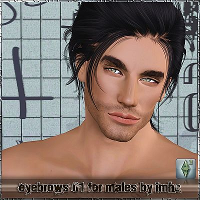 Sims 3 eyebrows, brows, genetics, male
