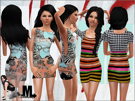 Sims 3 dress, fashion, clothing, female, teen