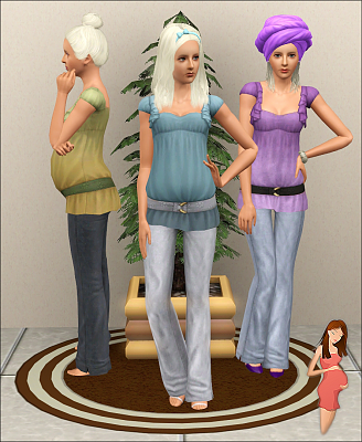 Sims 3 outfit, maternity, clothes