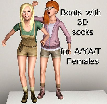 Sims 3 shoes, boots, socks