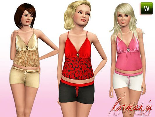 Sims 3 set, cloth, clothes, fashion
