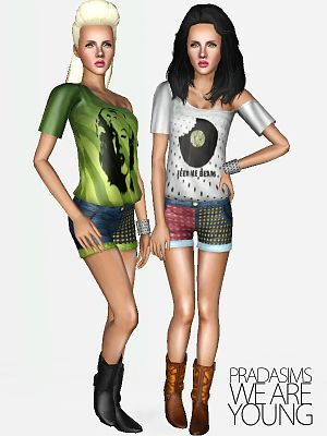 Sims 3 dress, cloth, clothing, outfit, fashion, boots