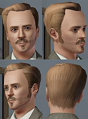 Sims 3 short, hair, hairstyle, male