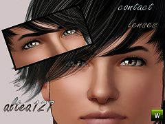 Sims 3 eyes, contact lenses, makeup, male