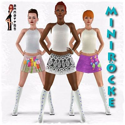 Sims 3 skirt, clothing, female, female, outfit