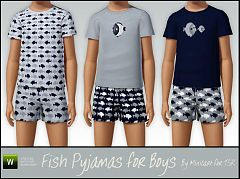 Sims 3 pyjamas, clothing, boys