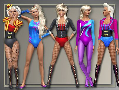 Sims 3 costumes, clothing, outfits, female