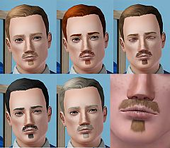 Sims 3 moustache, soulpatch, facial hair, genetics, males