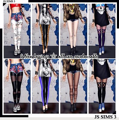 Sims 3 clothing, fashion, outfit, female, leggings