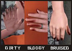 Sims 3 dirty, bloody, bruished hands