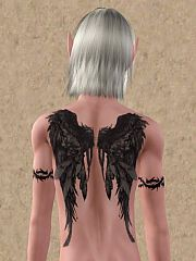 Sims 3 fallens, tattoo, accessories