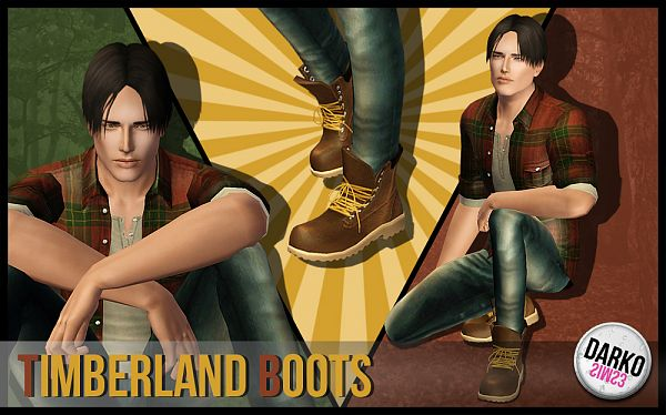 Sims 3 shoes, boots, male