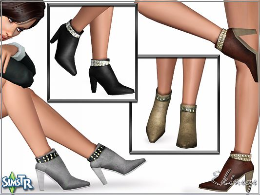 Sims 3 shoes, high heels, fashion, female, boots
