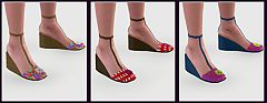 Sims 3 wedges, shoes, stylish