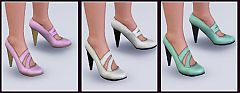 Sims 3 stylish, wedges, fashion, shoes