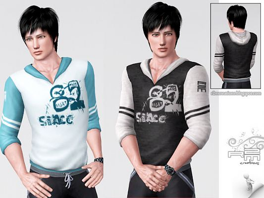 Sims 3 hoodie, clothing, male
