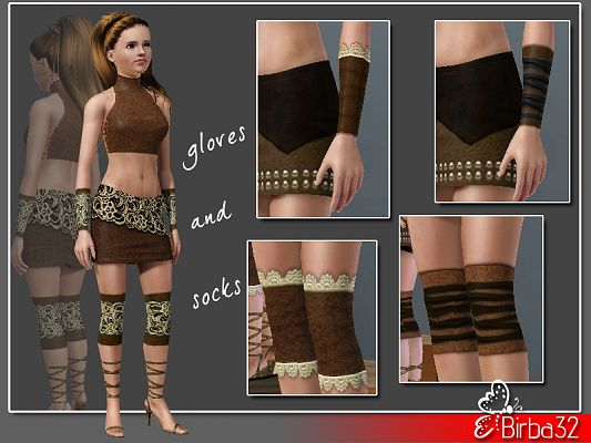 Sims 3 stockings, accessories, female