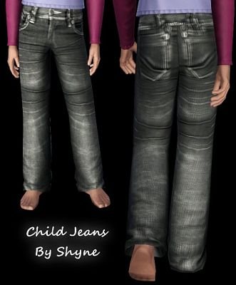 Sims 3 jeans, denim, child, clothes, bottom, pants, sims 3