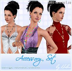Sims 3 jewelry, accessories, earrings, female, necklace