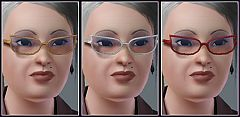 Sims 3 glasses, elder, females, accessories