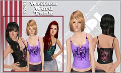 Sims 3 top, tank, clothes, fashion