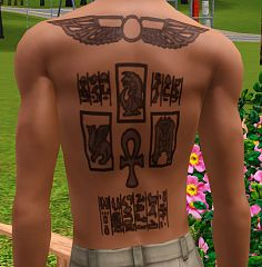 Sims 3 tattoo, tattoos, egipt