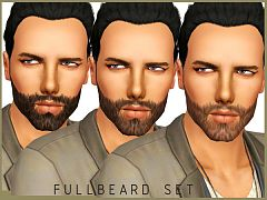 Sims 3 beard, facial, hair