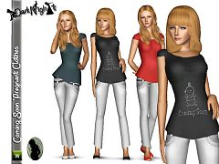 Sims 3 top, tank, clothes, fashion, blouses