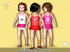 Sims 3 swim, swimwear, fashion, clothing, female, girls
