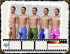 Sims 3 swim, bottom, pants, swimwear