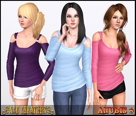 Sims 3 top, clothing, clothes, fashion