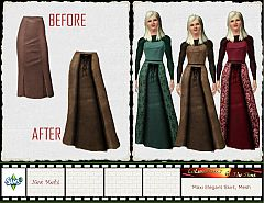 Sims 3 skirt, maxi skirt, cloth, clothes