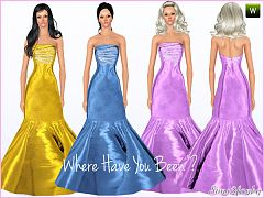 Sims 3 dress, fashion, clothing, outfit, female, formal