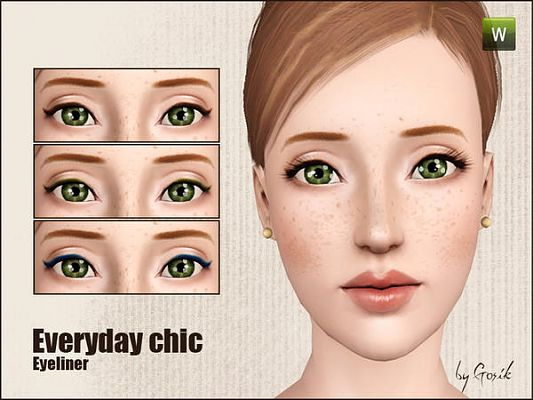 Sims 3 eye, eyeliner, mascara, makeup